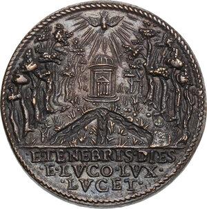 reverse: Pio V (1566 - 1572), Antonio Michele Ghislieri.. Medaglia postuma per la costruzione della tomba del Pontefice