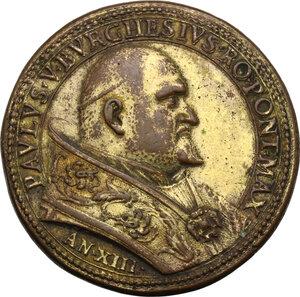 obverse: Paolo V (1605-1621), Camillo Borghese.. Medaglia annuale, A. XIII