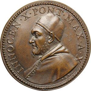 obverse: Innocenzo X (1644-1655) Giovanni Battista Pamphili. Medaglia A. X