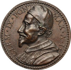 obverse: Clemente IX (1667-1669), Giulio Girolamo Rospigliosi.. Medaglia A. I