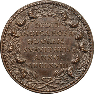 reverse: Clemente IX (1667-1669), Giulio Girolamo Rospigliosi.. Medaglia A. I