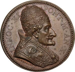 obverse: Innocenzo XI (1676-1689), Benedetto Odescalchi.. Medaglia annuale, A. X