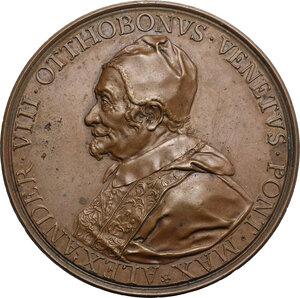 obverse: Alessandro VIII (1689-1691), Pietro Vito Ottoboni . Medaglia postuma, 1700 con bordo modanato