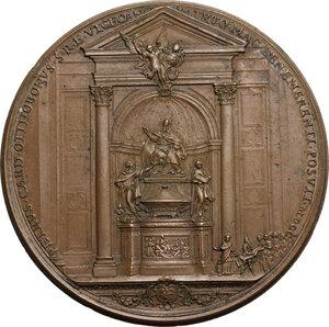 reverse: Alessandro VIII (1689-1691), Pietro Vito Ottoboni . Medaglia postuma, 1700 con bordo modanato