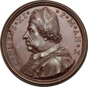 obverse: Clemente XI (1700-1721), Giovanni Francesco Albani. Medaglia annuale, A. X