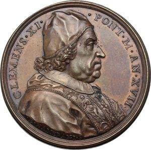 obverse: Clemente XI (1700-1721), Giovanni Francesco Albani.. Medaglia annuale, A. XVII