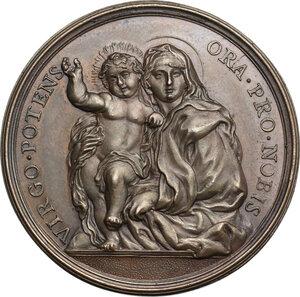 reverse: Clemente XI (1700-1721), Giovanni Francesco Albani.. Medaglia annuale, A. XVII