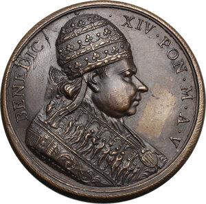 obverse: Benedetto XIV (1740-1758), Prospero Lambertini.. Medaglia annuale, A. V
