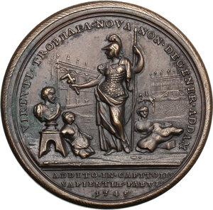 reverse: Benedetto XIV (1740-1758), Prospero Lambertini.. Medaglia annuale, A. V