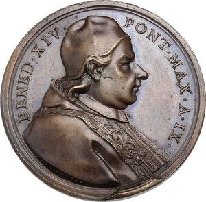 obverse: Benedetto XIV (1740-1758), Prospero Lambertini.. Medaglia annuale, A. IX