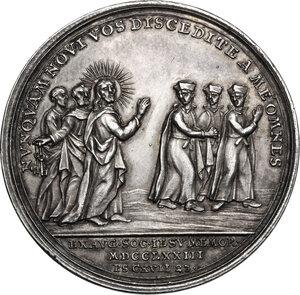 reverse: Clemente XIV (1769-1774), Gian Vincenzo Ganganelli . Medaglia 1773 per l abolizione dell Ordine dei Gesuiti
