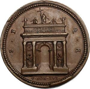 reverse: Pio VII (1800-1823), Barnaba Chiaramonti. Medaglia per l arrivo del pontefice a Roma dopo l elezione