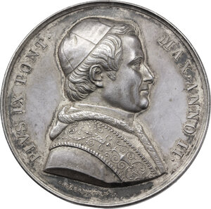 obverse: Pio IX  (1846-1878), Giovanni Mastai Ferretti.. Medaglia annuale, A. II