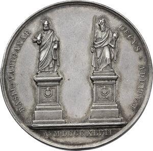 reverse: Pio IX  (1846-1878), Giovanni Mastai Ferretti.. Medaglia annuale, A. II