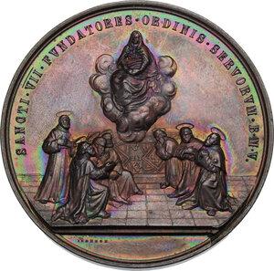obverse: Leone XIII (1878-1903), Gioacchino Pecci.. Medaglia straordinaria 1888 per la canonizzazione dei fondatori dell Ordine dei Servi della Beata Vergina Maria (Serviti)
