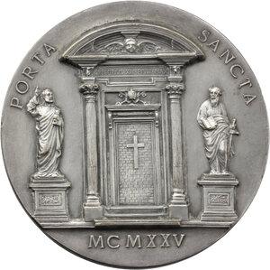 reverse: Pio XI (1922-1939), Achille Ratti.. Medaglia per il Grande Giubileo del 1925