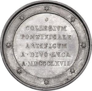 obverse: Accademia di San Luca.. Medaglia 1867 a Pietro Tenerani (1789-1869), scultore