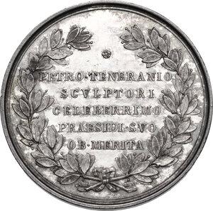 reverse: Accademia di San Luca.. Medaglia 1867 a Pietro Tenerani (1789-1869), scultore