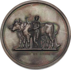 obverse: Medaglia 1870 Municipio di Pistoia ai membri del I Congresso Generale degli agricoltori italiani