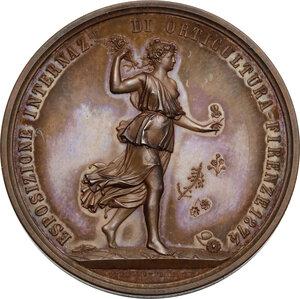 obverse: Medaglia 1874 per l Esposizione Internazionale di orticultura in Firenze