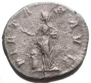 Impero Romano - Iulia Maesa 218-224 AD. Denario Ag. 18,6 mm. 2,98 g d/ IVLIA MAESA AVG Busto a ds r/ PIETAS AVG La Pietas stante a sn RIC IV, 2, p. 50, 263. BB