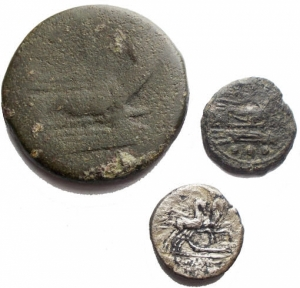 Lotti - Repubblica Romana. Insieme di 3 esemplari