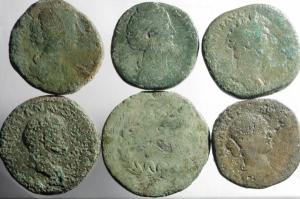Impero romano . Lotto 6 sesterzi + 4 assi.
