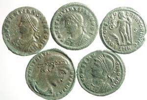 obverse: Lotti.Impero Romano.Lotto di 5 monete di epoca Costantiniana di buona onservazione. Parte di lotto ex Roma Numismatics e sale 69 lotto 1656