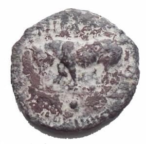 obverse: Mondo Greco - Gela. Oncia Ae. 420-405 aC. d/ Toro a sn r/ 4 Chicchi d orzo entro ruota a quattro raggi. g 1,23. mm 12,47. MB-qBB. R