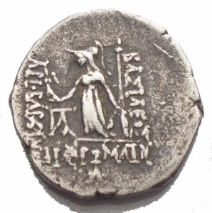 reverse: Mondo Greco - Asia Greca.Cappadocia.Dracma Ag.D/ Testa diademata a destra.R/ Athena, stante a sinistra con lancia e scudo, tiene Nike.g 3,85.mm 16,57 x 16,87