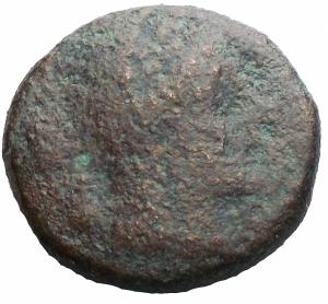 reverse: Mondo Greco -Apulia. Luceria.Biuncia ca. 211-200 a.C.D/ Testa velata di Cerere a destra.R/ Conchiglia.HN (Italy) 681.AE.g 5,58.mm 11,8. qMB