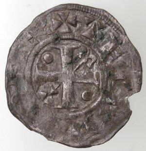 obverse: Francia. Champagne. Thibaud II. 1125-1152. Denaro Provisino. Mi.