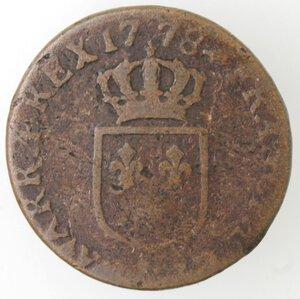 reverse: Francia. Luigi XVI. 1774-1793. Mezzo Sol 1778. Ae.