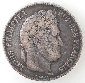 obverse: Francia. Luigi Filippo I. 1830-1848. 5 Franchi 1833. Ag.
