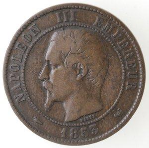 obverse: Francia.Napoleone III. 1852- 1870.Moneta-gettone 1853. Per la visita dei Reali alla Borsa.Ae.