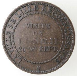 reverse: Francia.Napoleone III. 1852- 1870.Moneta-gettone 1853. Per la visita dei Reali alla Borsa.Ae.