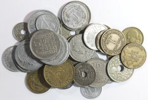obverse: Francia.Lotto di 36 pezzi. Vari metalli.