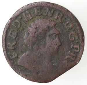 obverse: Stati della Francia. Orange. Federico Enrico. 1625-1647. Doppio Tornese 1640. Ae.