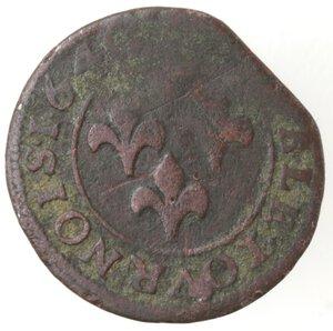 reverse: Stati della Francia. Orange. Federico Enrico. 1625-1647. Doppio Tornese 1640. Ae.