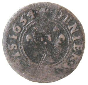 reverse: Stati della Francia. Nevers & Rethel. Carlo II Gonzaga. 1637-1659. Denaro Tornese. 1654.Ae.