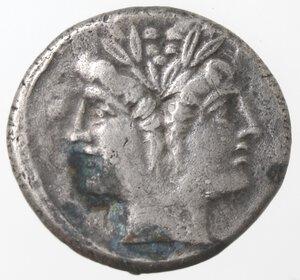 obverse: Monetazione classica.Serie anonima. 213-212 a.C.Quadrigato. Ag.