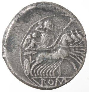 reverse: Monetazione classica.Serie anonima. 213-212 a.C.Quadrigato. Ag.