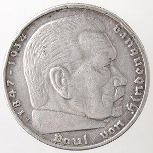 obverse: Germania. Terzo Reich. 1933-1945. 5 Marchi 1936. Ag.