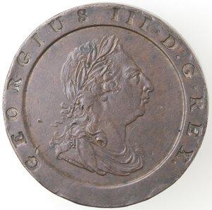 obverse: Gran Bretagna. Giorgio III. 1760-1820.Doppio Penny 1797.Ae.