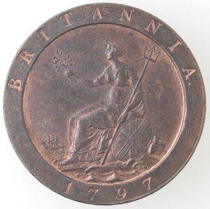 reverse: Gran Bretagna. Giorgio III. 1760-1820.Penny 1797. Ae.