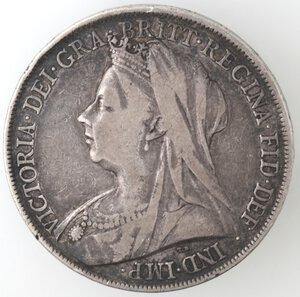 obverse: Gran Bretagna. Vittoria. 1837-1901. Corona 1900. Ag.