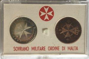 obverse: Monete Estere. Malta. Confezione contenente il 9 Tarì ed il 10 Grana 1967. Ag e Ae.