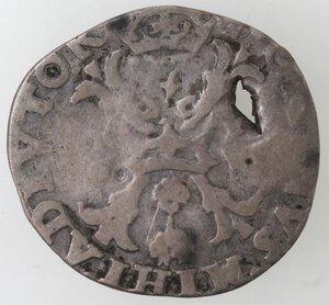 reverse: Olanda. Filippo II. Dominazione spagnola. 155?. Ag.