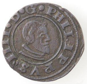 obverse: Spagna. Cuenca. Filippo IV. 1621-1665. 16 Maravedis 1663. Ae.