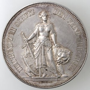reverse: Svizzera-Berna.5 franchi 1885 Tiri Federali.Ag.